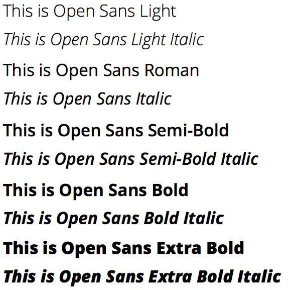 Softpress KnowledgeBase :: Using Font Variations with Google