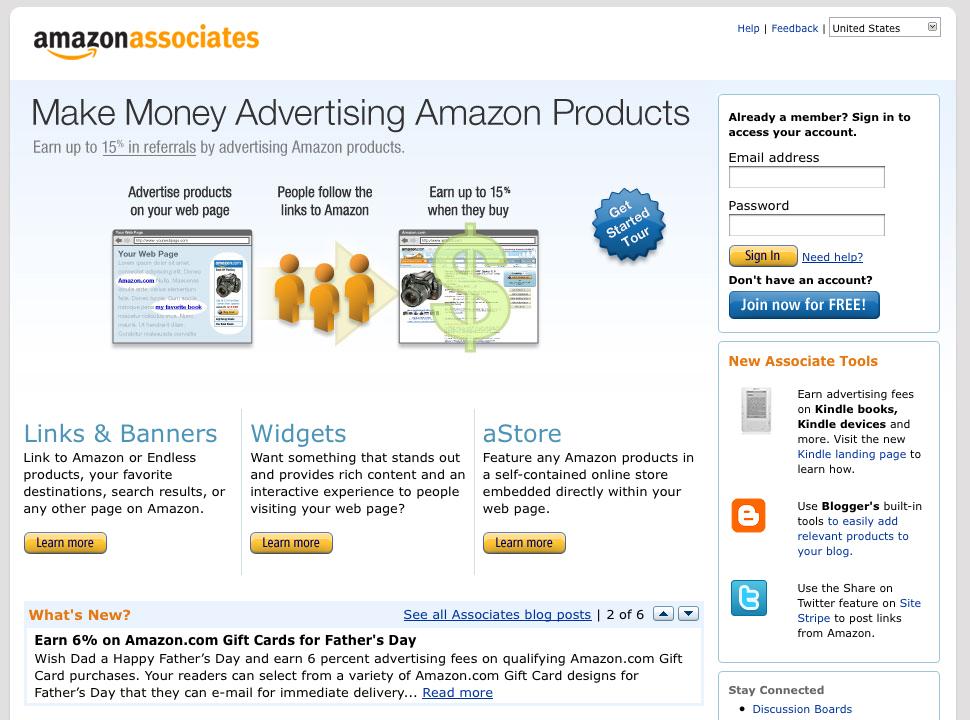 amazon associate account
