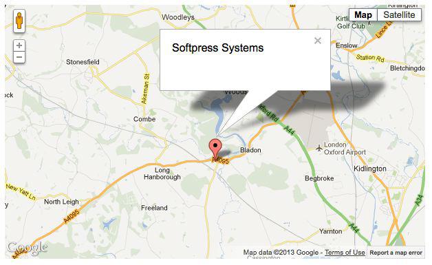 Softpress KnowledgeBase :: Google Maps Action